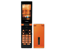 DOCOMO SHARP SH-03E STYLISH ORANGE WATERPROOF FLIP PHONE UNLOCKED NEW