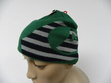 QUIKSILVER TODDLER/INFANT BEANIE STACKED CAP GREEN WITH BLACK