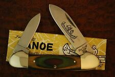 1980'S FROST CUTLERY FROST WOOD CANOE KNIFE NEW OLD STOCK