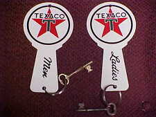 Texaco Restroom Bathroom Key Fobs & Rings 1950's - 1970's Men & Ladies
