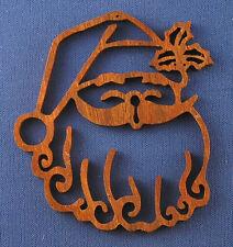 Santa's Face Christmas Ornament - hand cut