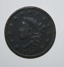 1833 LARGE CENT  N2    UX01