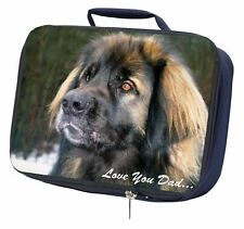 More details for leonberger dog 'love you dad' navy insulated school lunch box bag, dad-68lbn