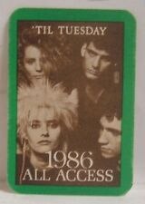TIL TUESDAY - ORIGINAL CLOTH TOUR BACKSTAGE PASS