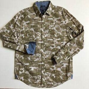 MINT American Rag Cie Men's M Camouflage cotton button front Shirt flip cuff