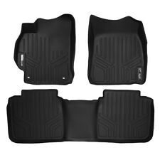 SMARTLINER All Weather Custom Fit Floor Mats Liner Full Set for Camry (Black)