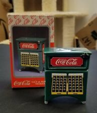 Coca-Cola Vending Machine Refridgerator Salt and Pepper Shakers 1997 Coke