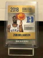 ZION WILLIAMSON ROOKIE CARD - RARE COLLEGE ROOKIE CARD - CUSTOM - GEM MINT
