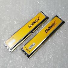 2GB Kit Crucial Ballistix BL12864AA80A.8FE5 PC2-6400 DDR2 2RX8 Non-ECC Memory