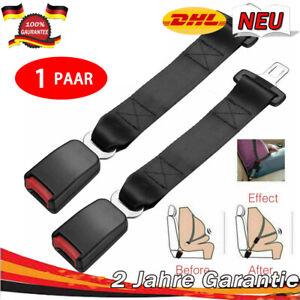 2x Auto Sicherheit Sitzgurt Extender Verlängerung Schnalle Lock Clip 38cm -DHL