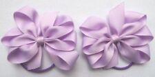 "2 Lila 3"" arcos Niñas cinta del grosgrain sobre el cabello púrpura Bobbles"