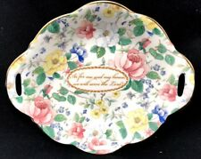 Floral Roses Fine Bone China Décor Dish Religious Made In England