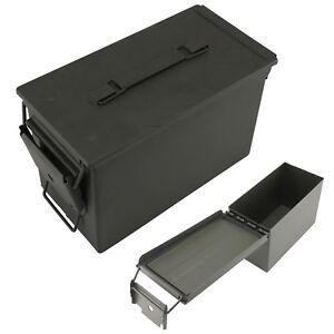 Munitionskiste abschließbar Dichtung Metallkiste Behälter Aufbewahrungsbox
