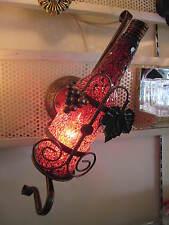Mosaic glass bottle shaped wall light - Home decor wall light home decoration