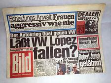 Bildzeitung vom 24.07.1993 * Autokrieg VW gegen Opel * Weihnachtsgeschenk