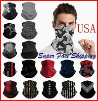 Bandana Face Mask Cover Balaclava Scarf Neck Gaiter Headband Reusable Washable