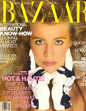 1987 Harper's Bazaar Magazine Frederique Yasmin LeBon Kelly Preston Hearst 80s