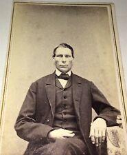 Rare Occupational American Machinist Lorenzo Stone! Southbridge, MA CDV Photo!