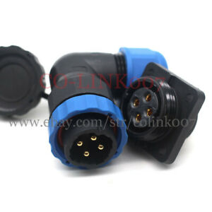 SD20 4pin Powe Cable Connector, IP68 Waterproof Electric Bulkhead Motor Charger