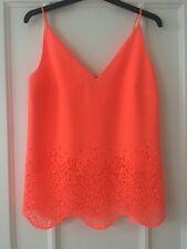 Karen Millen Coral Cut Out Cami Top Vest Size 8 BNWT
