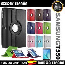"FUNDA TABLET PARA SAMSUNG GALAXY TAB 9.7"" T550 T555 GIRATORIA 360º MARCA ESPAÑA"