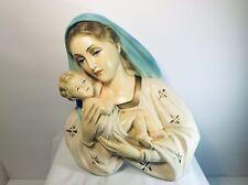 Vintage chalkware Madonna & Child