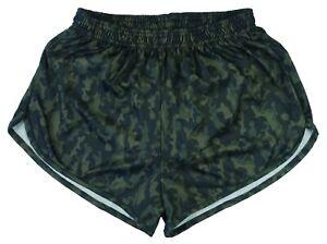Green Camo Ranger Panties Silkies Running Track Shorts by Soffe Men's Large