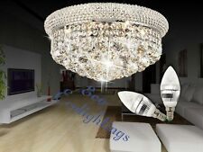 Modern Iron k9 Crystal Chandelier Ceiling Pendant Light Lamp chrome 35X20cm