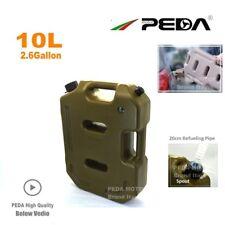 10L Portable Fuel Tank Jerrycan 2.6 Gallon Gas Can with Flexible Spout ATV Car