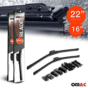 """OMAC Premium Wiper Blades 16""""&22"""" Combo Pack for Nissan NV 200 2013-2021"""