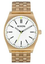 NIB Nixon Crew Watch All Gold White 1186-504