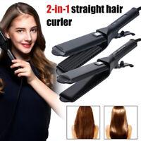 Ceramic Tourmaline Ionic Flat Iron Hair Straightener Curler Professional