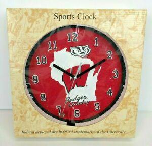 Wisconsin Badgers Football Bucky Heavy Ceramic 9 Clock New