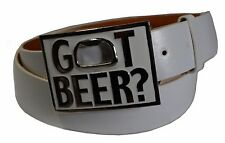 Fashion  GOT BEER Print Mens Belt Buckle With Bottle Opener- Free Belt Strap 43""