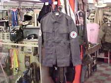 5VTG Germany Deutsches Kreuz Rotes Red Cross Work Wear Jacket Shirt Gray MEDIUM