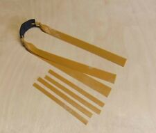 Slingshot Double Theraband Gold Bands. 220mm x 20-15mm.  OTT.  catapult hunting