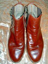 Men's Scarpe Di Lusso Scorsone Handcrafted Italian Leather Ankle Boots Sz 9 1/2
