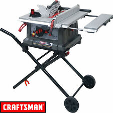 "NEW Craftsman 10"" Portable Table Saw Fold Roll Stand Garage Equipment Stand Tool"