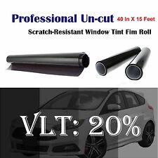 "Uncut Roll Window Tint Film 20% VLT 40"" In x 15' Ft Feet Car Home Office Glass"