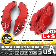 4 Pcs Brake Caliper Covers Universal Car Style Disc Red Front Rear Kits L+S LW04
