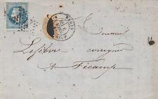 1868 LETTRE  20 c LAURE ETOILE 17 PARIS RUE du PONT- NEUF AVEC TIRET RARE