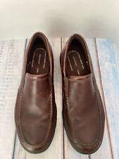 Rockport Mens H79442 Penny Loafer Brown Leather, Size 14M