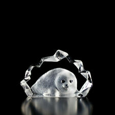 Mats Jonasson Baby Seal Crystal Paperweight #88100 Compare at LQQK