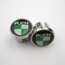 Vintage Style, PUCH, Chrome Racing Bar Plugs, Caps, Repro