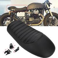 Black Motorcycle Hump Cafe Racer Seat Vintage Saddle For Honda Suzuki Yamaha