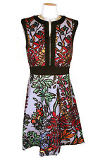 $500 JOVANI MULTI COLOR FLORAL PRINT SLEEVELESS FLARE DRESS SZ 6