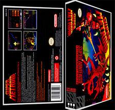 Super Metroid - SNES Reproduction Art Case/Box No Game.