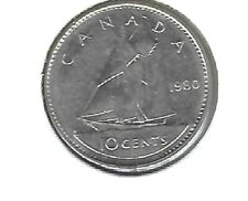 1980 Canadian Circulated 10 Cent Coin!