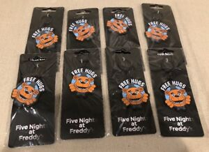 """(8) Five Nights at Freddy's KeyChain Party Favors Prizes """"Free Hugs"""" NEW!"""