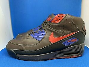 RARE 2008 NIKE AIR MAX 90 High Sneaker Boots Men's Sz 12 Brown Red 316339-071